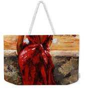 Lady In Red  34 -  I Love Budapest Weekender Tote Bag by Emerico Imre Toth