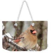 Lady In The Snow Weekender Tote Bag