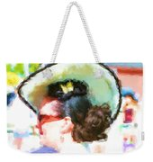 Lady In The White Hat And Trim Weekender Tote Bag