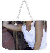 Lady In White Palm Springs Weekender Tote Bag