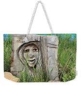 Lady In Wood Weekender Tote Bag