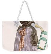 Lady Leaning On Chair, Engraved Weekender Tote Bag