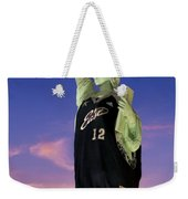 Lady Liberty Dressed Up For The Nba All Star Game Weekender Tote Bag by Susan Candelario