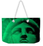 Lady Liberty In Copper Green Weekender Tote Bag