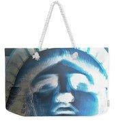 Lady Liberty In Negative Weekender Tote Bag