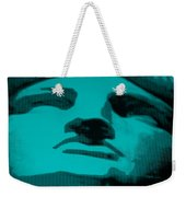 Lady Liberty In Turquois Weekender Tote Bag