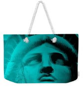 Lady Liberty In Turquoise Weekender Tote Bag