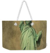 Lady Liberty New York Harbor Weekender Tote Bag