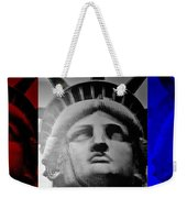 Lady Liberty Red White And Blue Weekender Tote Bag