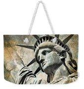 Lady Liberty Vintage Weekender Tote Bag