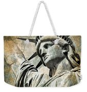 Lady Liberty Vintage Weekender Tote Bag by Delphimages Photo Creations