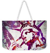 Lady Liberty Watercolor Weekender Tote Bag by Delphimages Photo Creations