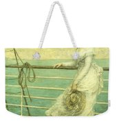 Lady On The Deck Of A Ship  Weekender Tote Bag