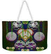 Lady Panda Welcomes Spring In Love And Light And Peace Weekender Tote Bag