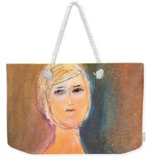 Lady Sketch Weekender Tote Bag by Andrea Friedell