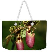 Lady Slipper Orchid Twins Weekender Tote Bag