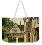 Lady Walking In The Village Weekender Tote Bag by Jill Battaglia