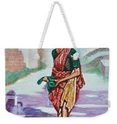 Lady Washing Clothes Weekender Tote Bag