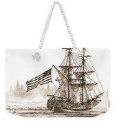 Lady Washington At Friendly Cove Sepia Weekender Tote Bag by James Williamson