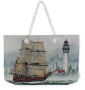 Lady Washington At Grays Harbor Weekender Tote Bag by James Williamson
