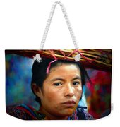 Lady With A Basket Weekender Tote Bag