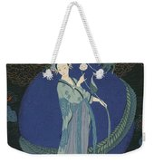 Lady With A Dragon Weekender Tote Bag