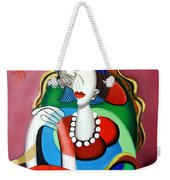 Lady With A Red Hat Weekender Tote Bag