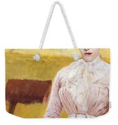 Lady With Black Kitten Weekender Tote Bag
