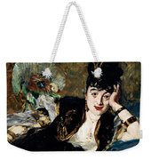 Lady With Fan Portrait Of Marie Anne De Callias Known As Nina De Callias Weekender Tote Bag