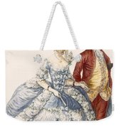 Lady With Her Husband Attending A Court Weekender Tote Bag