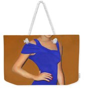 Lady With The Blue Dress Weekender Tote Bag