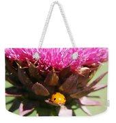 Ladybug And Thistle Weekender Tote Bag by Marilyn Hunt