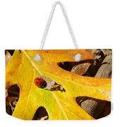 Ladybug Leafing By Diana Sainz Weekender Tote Bag
