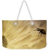 Ladybug On A Sunflower Weekender Tote Bag
