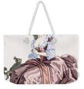 Ladys Elegant Caramel Coloured Satin Weekender Tote Bag