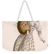 Ladys Gown Embroidered With Small Weekender Tote Bag