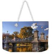 Lagoon Bridge In Autumn Weekender Tote Bag by Joann Vitali