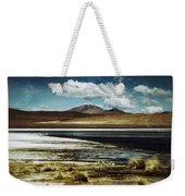 Lagoon Grass Bolivia Vintage Weekender Tote Bag