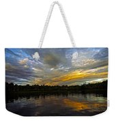 Lagoon Sunset In The Jungle Weekender Tote Bag