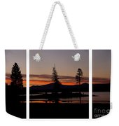 Lake Almanor Sunset Triptych Weekender Tote Bag