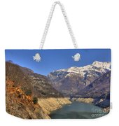 Lake And Snow-capped Mountain Weekender Tote Bag