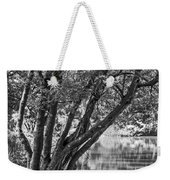 Lake Bench In Black And White Weekender Tote Bag