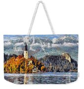 Lake Bled And Mountains Weekender Tote Bag