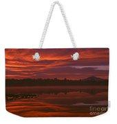 Lake Cassidy Draatic Sunrise Weekender Tote Bag