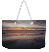 Lake Cassidy Reflections Dramatic Clouds Weekender Tote Bag