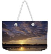Lake Cassidy With Mount Pilchuck Weekender Tote Bag