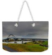 Lake Champlain Bridge Panorama From Crown Point Weekender Tote Bag