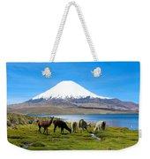 Lake Chungara Chilean Andes Weekender Tote Bag by Kurt Van Wagner