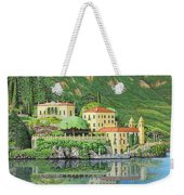 Lake Como Morning Weekender Tote Bag