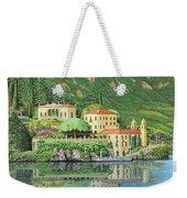 Lake Como Morning Weekender Tote Bag
